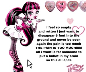 pink, sad, and vent image