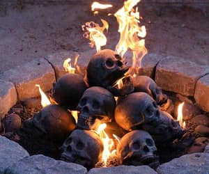skull and fire image