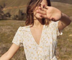 dress, girl, and mellow image