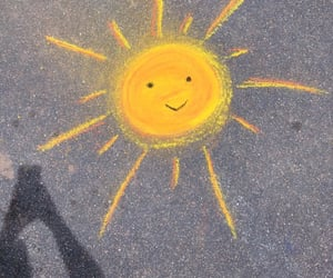 sun, carefree, and chalk image