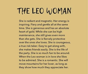 Leo, signs, and woman image