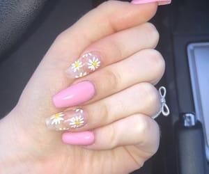 nails, baby pink, and girly image