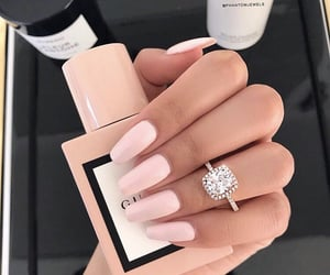 nails, gucci, and pink image