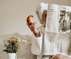beige, breakfast, and flowers image