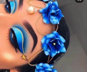blue, makeup, and mua  image
