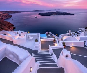 summer, Greece, and beautiful image