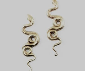 aesthetic, gold, and snake image
