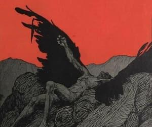 angel, black, and demon image