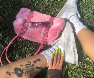 nails, nike, and purse image