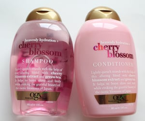 shampoo, conditioner, and pink image