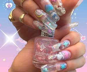 nails, sparkle, and cute image