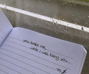 broken, quotes, and rain image