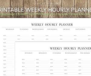 etsy, printable planner, and hourly schedule image