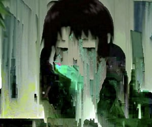 anime, aesthetic, and glitch image