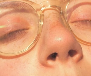 aesthetic, glasses, and freckles image