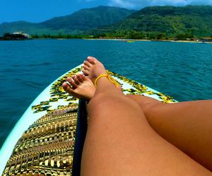 bikini, surfboard, and holidays image