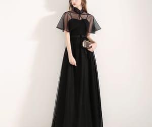 black dress, girl, and formal dresses image