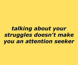 quotes, struggle, and yellow image