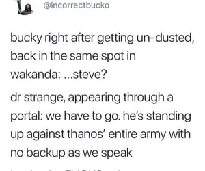 Avengers, end game, and bucky image
