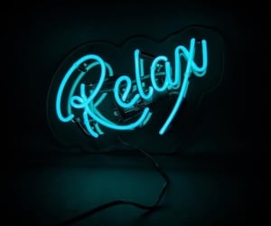 blue, neon, and relax image