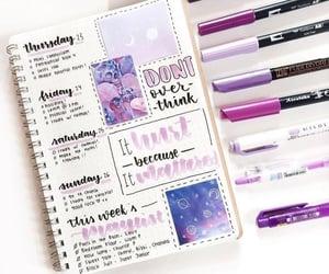 plans, purple, and week image