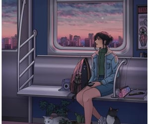 art, train, and aesthetic image