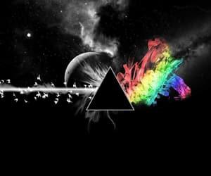 Pink Floyd, rainbow, and triangle image