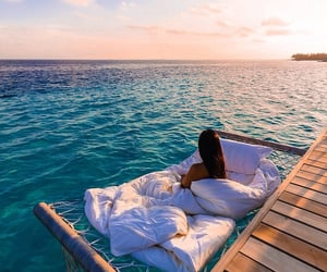 ocean, blue, and vacation image