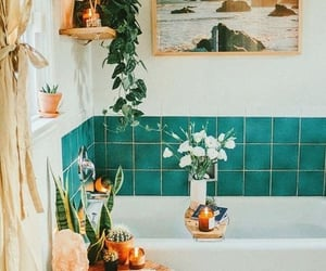 aesthetic, bathroom, and candles image