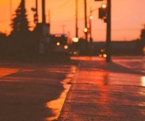 orange, street, and aesthetic image
