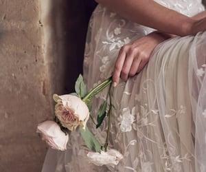 flowers, girl, and wedding image
