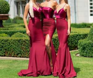 bridesmaid and wedding image