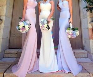 bridesmaid, fashion, and wedding image
