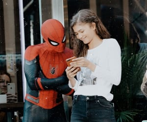spiderman, far from home, and zendaya image
