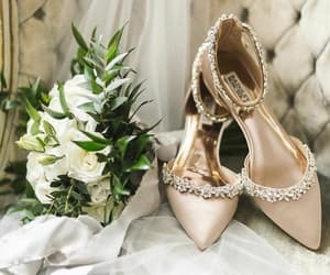 bridal, roses, and pointed toe image