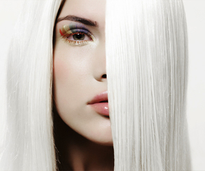 fashion, look, and white hair image