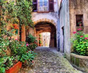 adventure, cobblestone street, and italy image