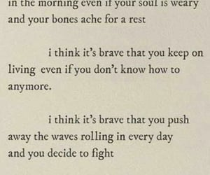 quotes, words, and brave image
