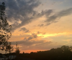 cloud, evening, and golden image