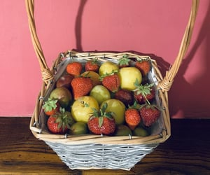 basket, colors, and food image