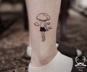 tattoo, clouds, and style image