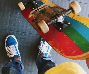 aesthetic, skateboard, and skater image