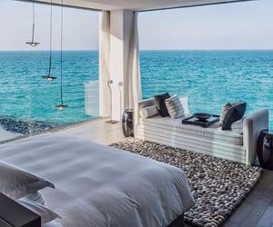 bedroom, sea, and view image