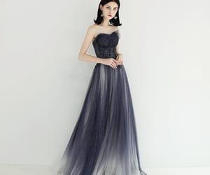 girl, formal dresses, and glitter tulle image