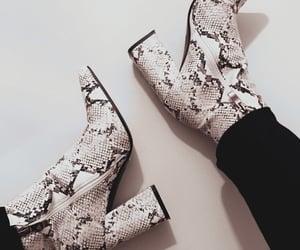 animal print, fashion, and boots image