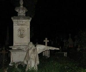 angel, cemetery, and dark image