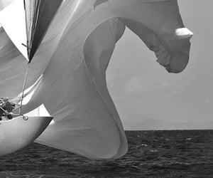 boat, sea, and sail image