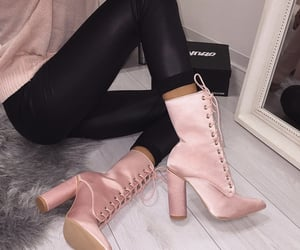 highheels, pink, and shoes image