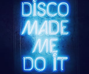 blue, neon, and disco image