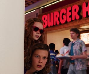 stranger things, eleven, and sadie sink image
